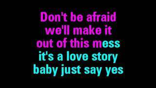 Love Story Taylor Swift Karaoke - You Sing The Hits (2011)